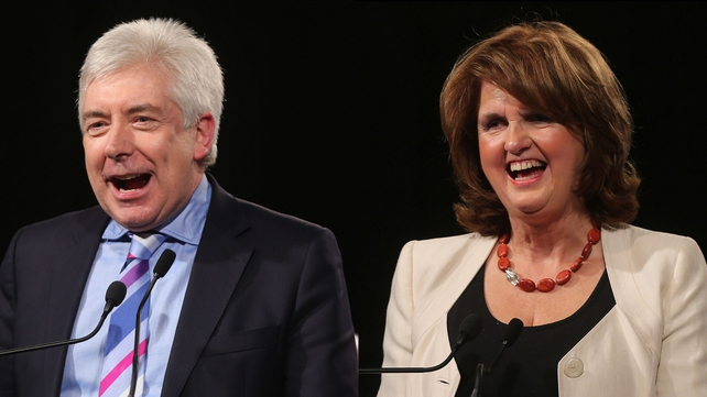 Alex White and Joan Burton are the only candidates to replace Eamon Gilmore