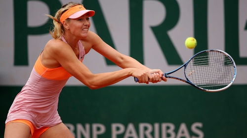 Maria Sharapova has yet to drop a set in two matches against semi-final opponent Eugenie Bouchard