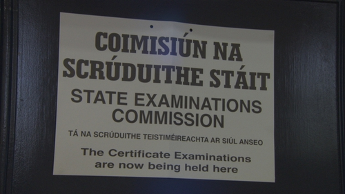 The State Examination Commission posts the regulations outside every exam centre