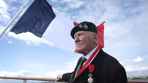 A British Normandy veteran looks towards France as he travels to Caen, Brittany, ahead of D-Day anniversary commemorations
