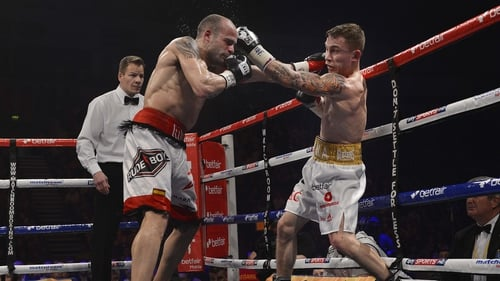 Carl Frampton (right) and Kiko Martinez (left) will battle for the IBF world super bantamweight title on 6 September