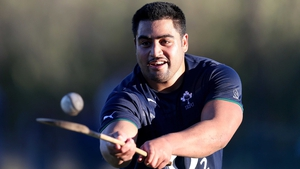 Connacht's New Zealand-born prop Rodney Ah You play's hurling on Ireland's Tour to Argentina