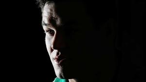 Johnny Sexton talks to the media during Ireland's summer tour to Argentina