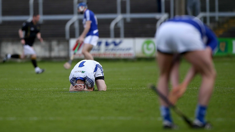 What it means to lose: Laois goalkeeper Eoin Reilly dejected at the final whistle after his county lost to Galway