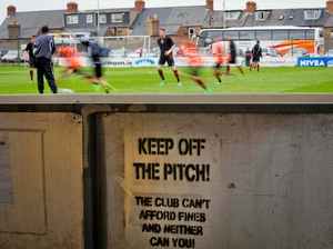 Financial fair play: Fans are warned as Bohemians warm up before their game against Dundalk