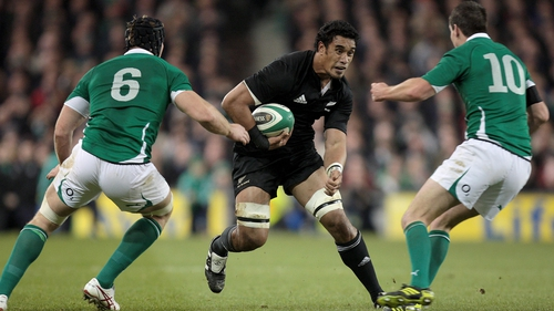 Jerome Kaino in action against Ireland