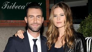 Adam Levine with fiancé Behati Prinsloo