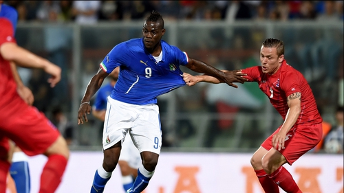 Italian striker Mario Balotelli played well in the team's draw with Luxembourg