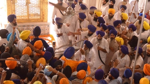 Members of Shiromani Akali Dal (Amritsar) insisted they be allowed to speak first, which sparked the scuffles
