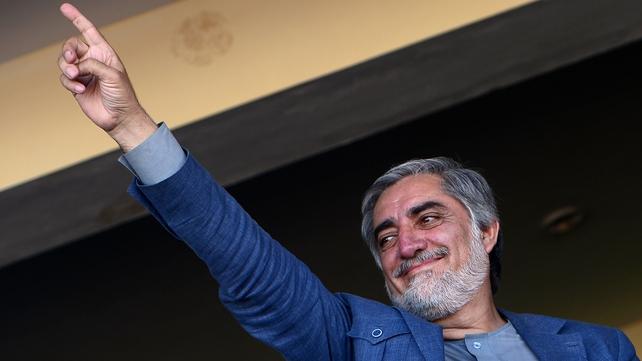 Afghan presidential frontrunner Abdullah Abdullah was targeted in attack