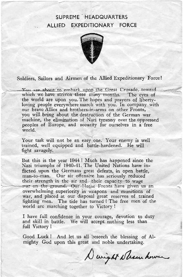 Eisenhower's letter