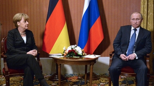 Angela Merkel and Vladimir Putin discussed the situation in Ukraine