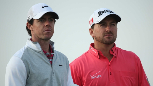 Rory McIlroy and Graeme McDowell will play with Webb Simpson