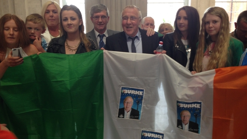 Independent councillor Christy Burke was elected as Dublin's Lord Mayor