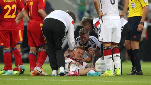 Marco Reus limped out of Germany's win over Armenia just before half-time