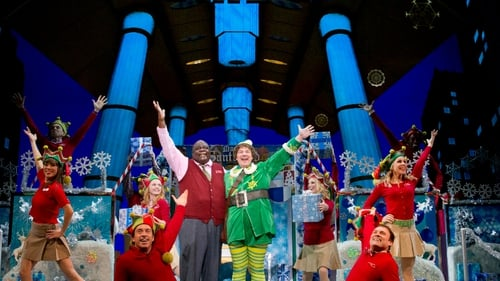 Elf the Musical in a 2012 New York production at the Hirschfeld Theatre