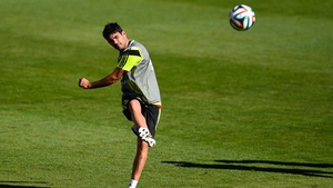 Diego Costa training with Spain earlier this week