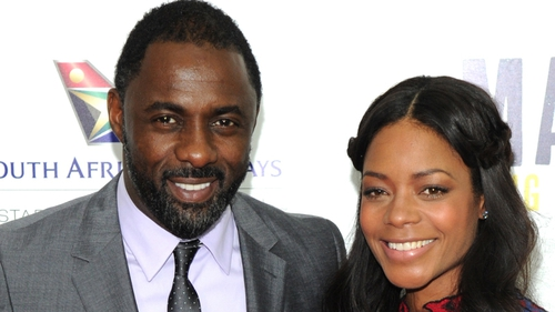 Actors Idris Elba, who played  Nelson Mandela and Naomie Harris - who played his wife, Winnie Mandela