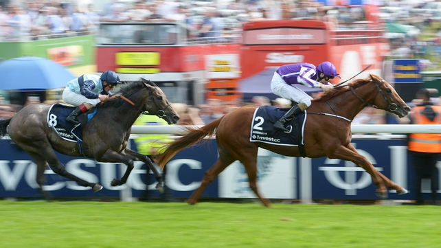 Australia ridden by Joseph O'Brien wins the Investec Derby from Kingston Hill at Epsom