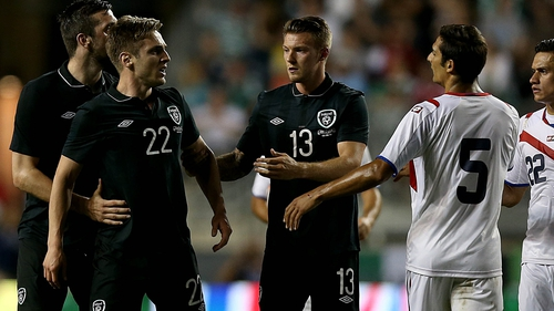 Kevin Doyle reacts after being fouled