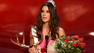 Sandra Bullock accepts her Decade of Hotness honour