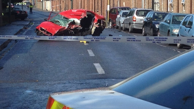 The crash happened in the James's Street area this morning