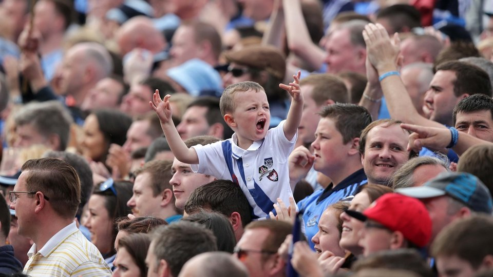 On Hill 16, a young Dublin fan roars his approval. Sure, he's happy now, but...