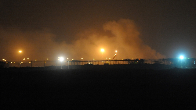 Two huge blasts have rocked Pakistan's Karachi airport which is under siege by militants