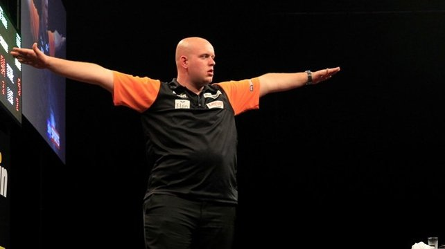 Michael van Gerwen of the Netherlands
