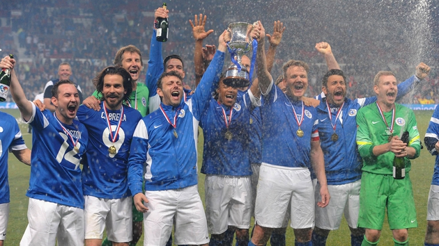The victorious Rest of World team included James McAvoy, Nicky Byrne and Gordon Ramsay