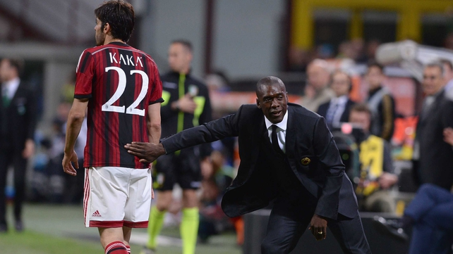Clarence Seedorf lasted only five months as Milan boss