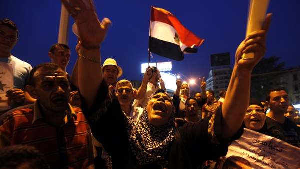 People celebrating the inauguration of new Egypt President