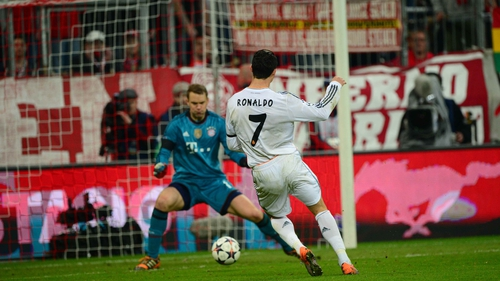 Ronaldo and Neuer, both recovering from injury, faced off as rivals in the Champions League