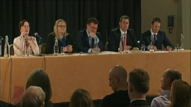 Labour Party deputy leadership candidates at the hustings in Dublin