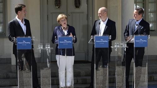 EU leaders at the Swedish Prime Minister's summer residence in Harpsund, Sweden