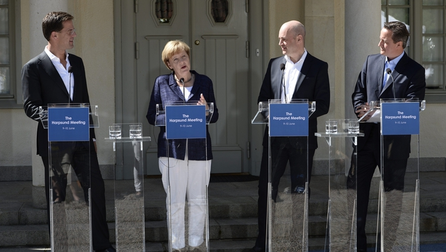 EU leaders at the Swedish Prime Minister's summer residence in Harpsund, Sweden