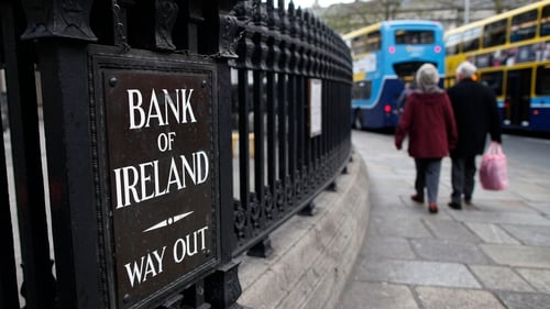 The level of write downs on Bank of Ireland's bad debts fell 43% during the six month period
