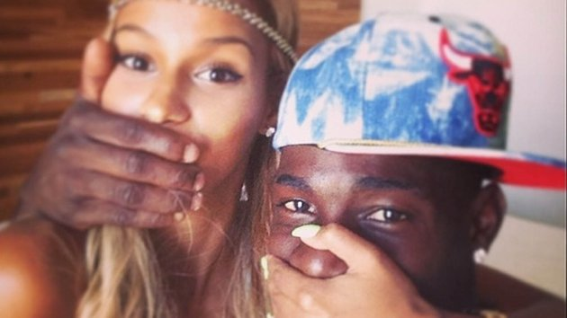 The newly engaged Fanny and Mario Picture copyright: Mario Balotelli