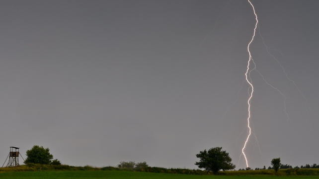 Lightning over Slieversdorf, Germany