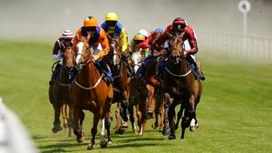 Racing in The Bathwick Tyres Maiden Stakes at Salisbury racecourse, England