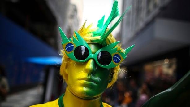Mannequin bedecked in Brazillian colours