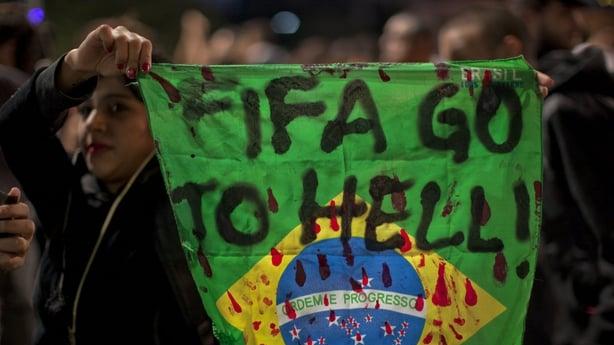 Anti-World Cup demonstrators