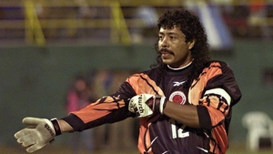 Rene Higuita (1990) perfected the wet perm as well as the 'scorpion kick' during his long tenure as Colombia keeper. Nicknamed 'El Loco,' he missed the 1994 tournament, having only recently been released from prison.