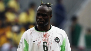 Taribo West (1998, 2002) sported many wacky hairstyles during his time representing Nigeria. Impending baldness didn't prevent him sporting this defiant Keith Flint-esque (The Prodigy) 'do in 2002.