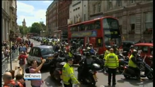 Taxi's protest over private hire apps