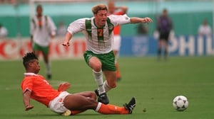 The hue of Andy Townsend's (1990, 1994) spikes acted something like a lighthouse for the midfielder, as he captained Ireland as far as the quarter-finals.