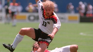 Rudi Voeller (1986, 1990, 1994) sported a dry, damaged  perm for much of his career with Germany. His tired locks famously received some much-needed moisturising form Frank Rijkaard in a spitting incident at Italia 90.