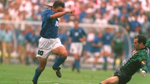 Roberto Baggio (1990, 1994, 1998) might be well remembered in his home of Italy for missing the team's last penalty in a bygone final, but he will never be forgotten anywhere for his flickering, brave braids blowing in the wind.