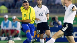 Ronaldo (1998, 2002, 2006), considered one of the greatest footballers of all time, led Brazil to World Cup victory sporting the ubiquitous, bizarrely charming 'front fade.'