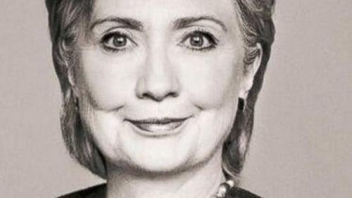 Hillary Clinton as she appears on the cover of her new memoir, Hard Choices